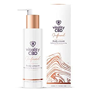 Vitality CBD Infused Body Cream, 300mg cannabidiol...
