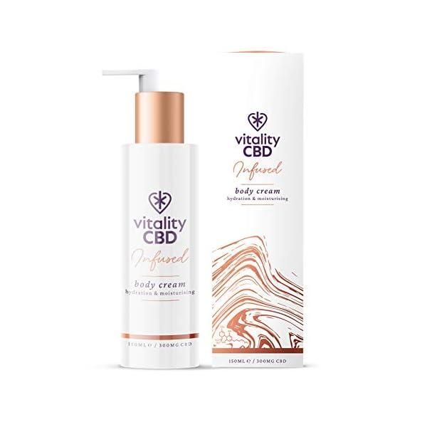 Vitality CBD Infused Body Cream, 300mg cannabidiol, 150ml