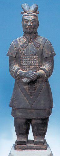 "HAIKU Terra Cotta General Warrior Statue 20"" Chinese Army"