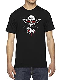 Yoda Inspired Music DJ Headphones Men's Crew Neck Cotton T-Shirt