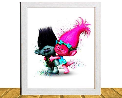 poppy-branch-trolls-inspired-11-x-14-or-8-x-10-wall-art-watercolor-dreamworks-poster-nursery-art-unf