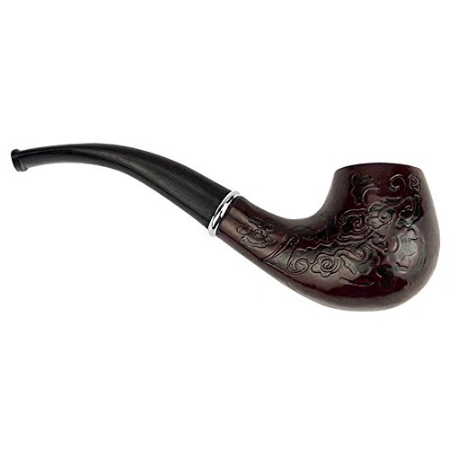 HonsCreat Classic Wooden Durable Tobacco Smoking Pipe