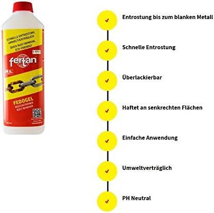 Fertan Fedogel Rostentferner Gel Rostkonverter Der Perfekte Rostumwandler Inkl Pinsel Von E Com24 Fedogel 500 Ml Baumarkt