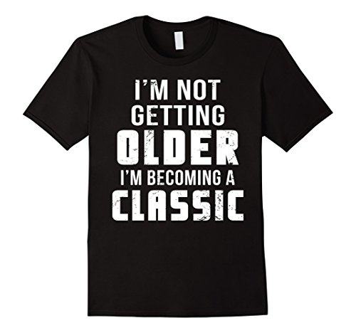 Mens Funny Older Woman or Old Man T Shirt Great Birthday Gift XL Black