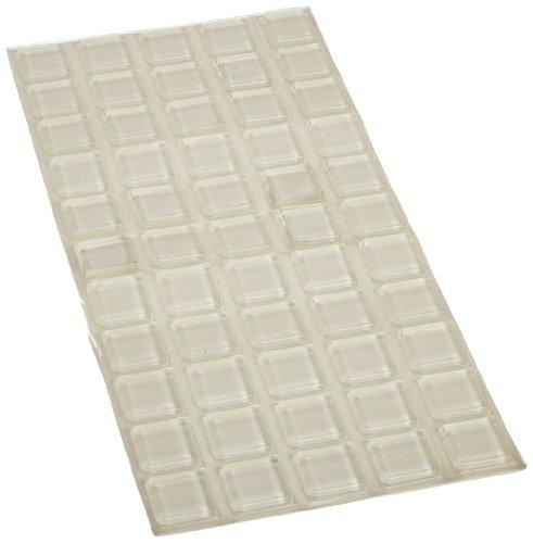 Rockwood 606 SHEET/55 Rubber Wall Guard, 1'' Width x 1'' Length, Clear Finish (Sheet of 55) by Rockwood (Image #1)