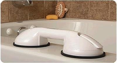 "Grab Bars - 13"" Heavy duty suction grip bathroom grab bar. Removable."