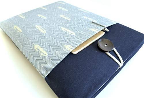 Herringbone Feathers Laptop Sleeve Case for MacBooks or Custom Size