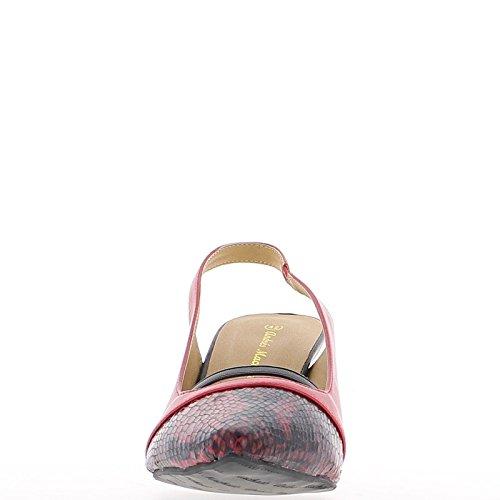 Afilados tacones altos zapatos rojos de gran tamaño 9cm abierta