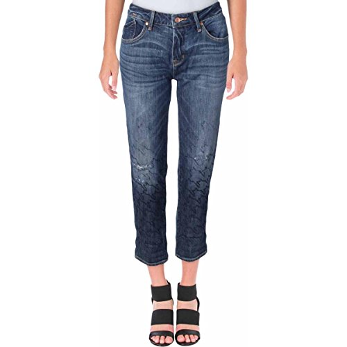 Marc by Marc Jacobs Womens Jessie Hartley Wash Distressed Cropped Jeans Blue (Marc Jacobs Cropped)