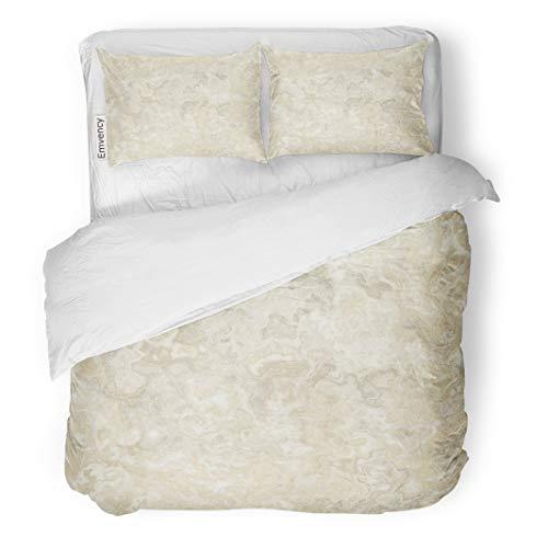 Tarolo Bedding Duvet Cover Set Beige Cream Marble Abstract Brown Wood Onyx Granite Italian Top 3 Piece Queen 90