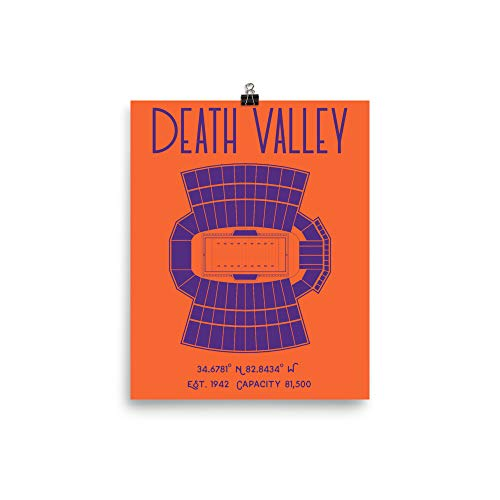 Clemson University Football Death Valley Stadium Poster Print