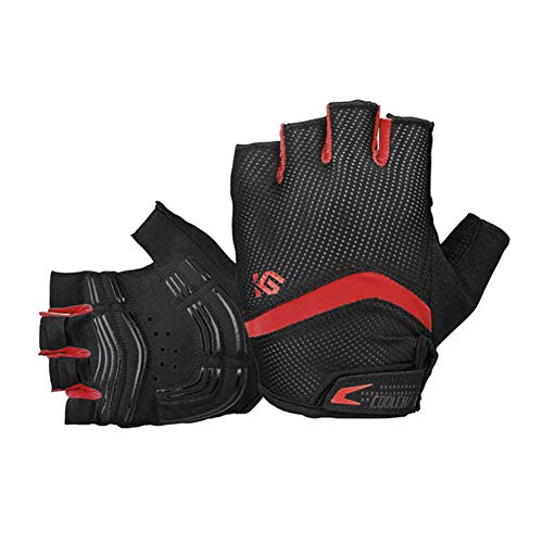 Dimensions Handball Team (eroute66 Bike Gloves Bicycle Gloves Cycling Gloves Mountain Biking Gloves with Anti-Slip Shock-Absorbing Pad Breathable Half Finger Outdoor Sports Gloves Red S)