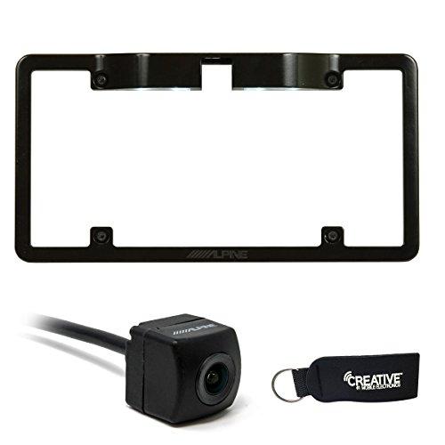Alpine KTX-C10LP License Plate Camera Mount PCAM Rear View Camera Bundle