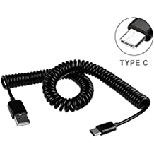 Black Coiled Type-C Cable Rapid Charger Sync USB Wire USB-C Power Data Transfer Cord for Verizon Samsung Galaxy S8 - Verizon Samsung Galaxy S8+ - Verizon Samsung Galaxy S9 (G960UZPAVZW)
