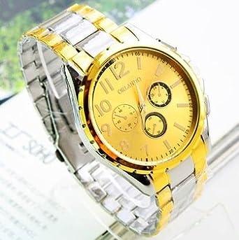 Gold Orlando Gold Big Dial Quartz Watches For Men Bussiness