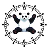 Giant Panda Bear - JP Animal - WATCHBUDDY ELITE Chrome-Plated Metal Alloy Watch with Metal Mesh Strap-Size-Large ( Mens Size or Jumbo Womens Size )