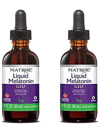 Natrol Melatonin 1 mg Liquid 2 oz (Pack of 2)