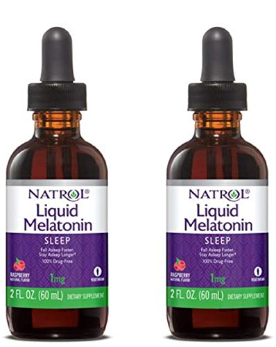 Natrol Melatonin 1 mg Liquid 2 oz (Pack of 2) - Natrol Liquid Melatonin