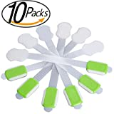 Adjustable Child Safety Locks - For Baby Kitchen Safety,Proof Cabinets, Drawers,Fridge,Oven,Dishwasher,Toilet Seat,Appliances - No Tools or Drilling - Uses 3M Adhesive with Latch System-10 Pack