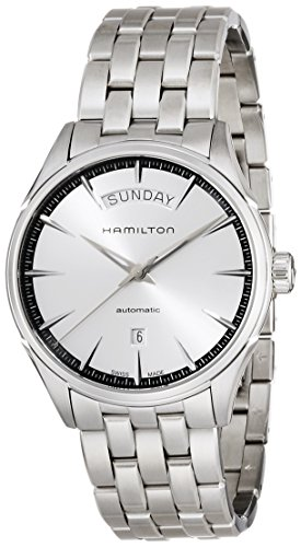 Hamilton Men's 'Jazzmaster' Swiss Automatic Stainless Steel Casual Watch, Color:Silver-Toned (Model: H42565151) by Hamilton