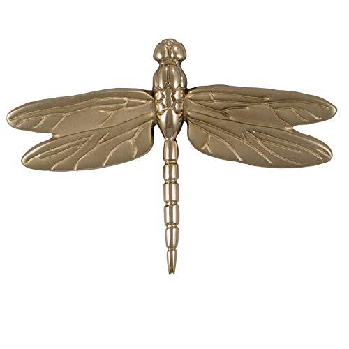 Dragonfly in Flight Door Knocker - Nickel (Premium Size)