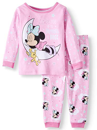 (Disney Minnie Mouse Love You to The Moon and Back 2 Piece Sleepwear Pajama Set (24 Months))