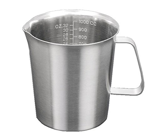 Lotus Stores #304 Stainless Steel Measuring Cup with Marking with Handle (1000ml)