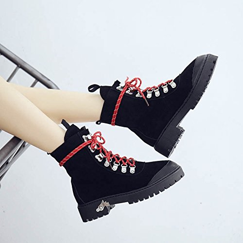 Women with Boots Flat Bottom Soft yellow Boots Boots Leather 5 Martin Women a Matte EUR34 Yq5cT