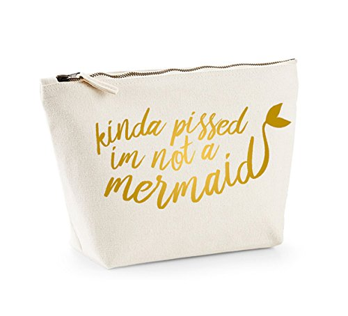 Natural Up Not Kinda And gold A I'm Mermaid Pissed Cosmetics Organiser Bag Accessory Make ZxawqT4qS