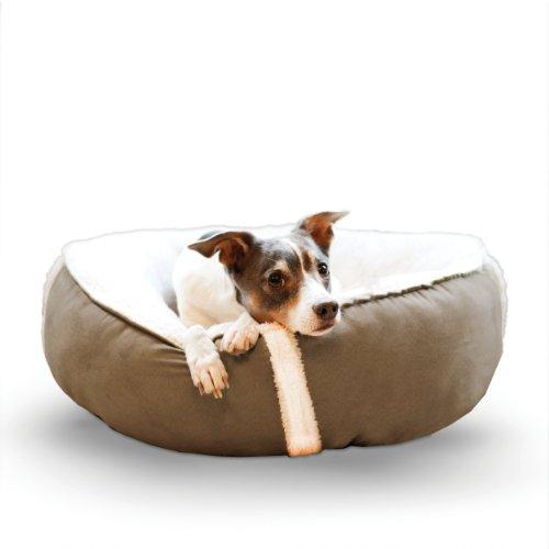 Fleece Nest Dog Bed - K&H Pet Products Sleepy Nest Pet Bed Large Chocolate/Fleece 24