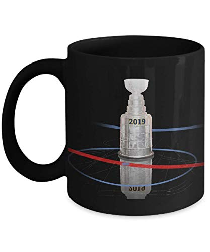 - St Louis Hockey Fans 2019 Championship Cup Black Coffee Mug | Cool Design to Commemorate Our Teams 1st Cup | Congratulate a Fan Friend Player and Lift