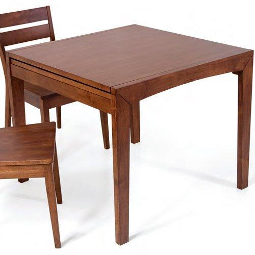 Tavolo allungabile con struttura in legno noce 90 x 90: Amazon.it ...