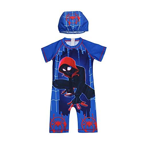 Kinderen Cosplay Spiderman Zwemkostuum Jongen Meisje Badpak Surfen 2 Stuk Badmode Mouwen Nieuwigheid UV Buitenshuis…