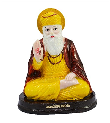 Indian Hand Carved Gurunanak Ji Resin Idol Sculpture Statue 5 Inches