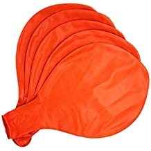 GuassLee 5 Big Balloon 36 Inch Latex Giant Balloon Large Balloons for Photo Shoot/Birthday/Wedding Party/Festival/Event/Carnival Decorations Orange