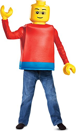 Top Ten Guy Costumes Halloween (Disguise Lego Guy Classic Child Costume, Red,)