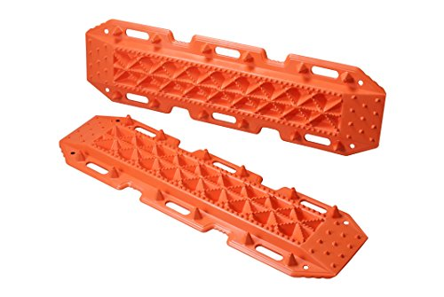Maxsa Escaper Buddy Traction Mat  Set Of 2  For Off Road Mud  Sand    Snow Vehicle Extraction Orange 20333