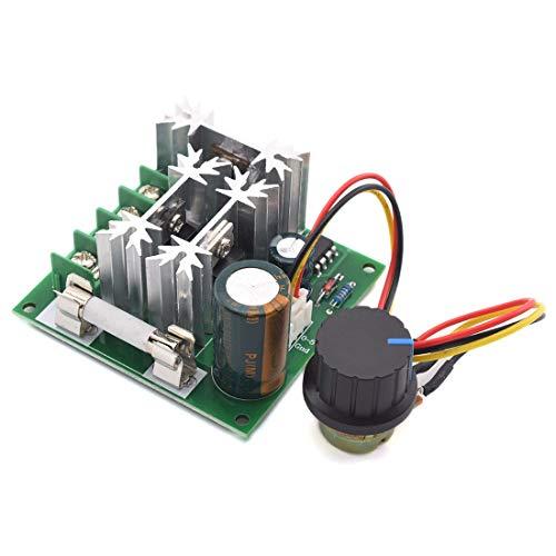 SDTC Tech 6V-90V 15A DC Motor Speed Controller PWM Control Switch 6V 12V 24V 36V 48V 72V 90V Adjustable Speed Driver Regulator with External Knob