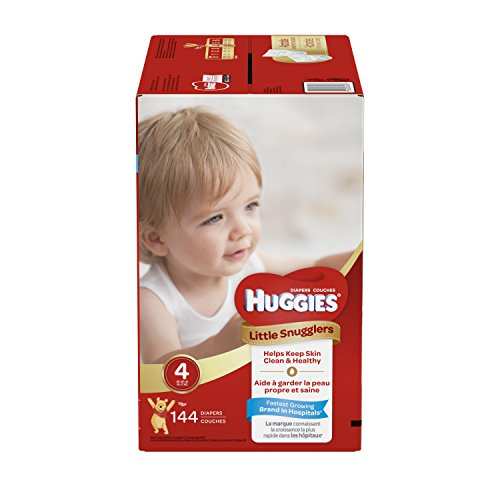 The Disney Pooh Winnie Diapers (Huggies Little Snugglers Baby Diapers, Size 4, 144 Count, ECONOMY PLUS (Packaging May Vary))