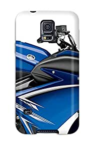 Hot OymmLey2156vcguv Yamaha Fz6r Blue Tpu Case Cover Compatible With Galaxy S5
