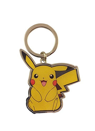 Pokemon Go Adorable Pikachu Enamel Finished Metal Keychain Key Ring Licensed - Enamel Ring Key