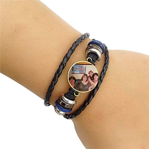 Custom Made mrsrui Sister Love Forever Friendship Leather Rope Bracelet Bangle Gift