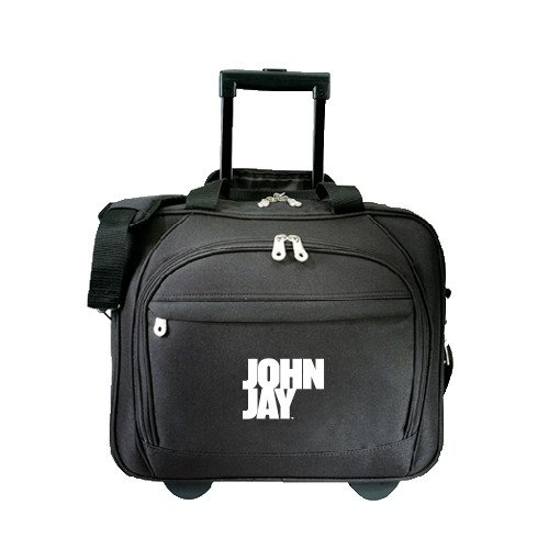 John Jay College Embassy Plus Rolling Black Compu Brief 'Official Logo' by CollegeFanGear