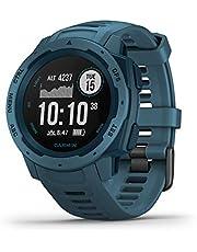 Garmin Instinct, resistente reloj al aire libre con GPS, cuenta con GLONASS y Galileo, monitoreo del ritmo cardíaco y brújula de 3 ejes, azul junto al lago (renovado)