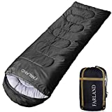 FARLAND Sleeping Bag for Adults Teens Kid with Compression Sack Portable and Lightweight for 3-4 Season Camping, Hiking,Waterproof, (Red & Black, 33