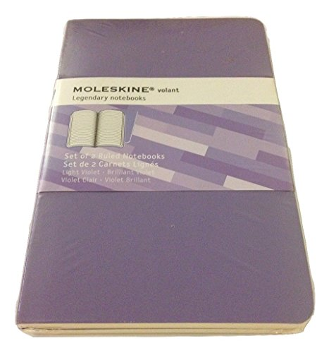 Moleskine Volant Legendary Soft Cover Ruled Notebook (3.5 X 5.5) - Set of 2, Light/Brilliant ()