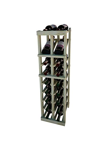 Vintner Series 3 - Vintner Series Wine Rack - 2 Columns with Display - 3 Ft - Pine with Unstained