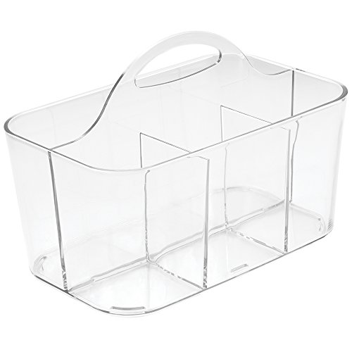 InterDesign Clarity Cutlery Flatware Caddy, Silverware, Utensil, and Napkin Holder - Clear by InterDesign (Image #1)