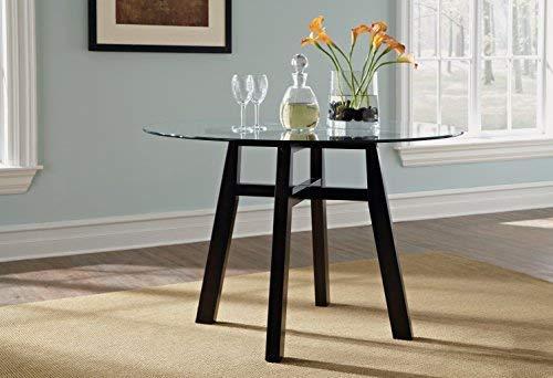 Dinette Wood Round - Sauder 415082 Shoal Creek Round Dinette Table, Jamocha Wood Finish