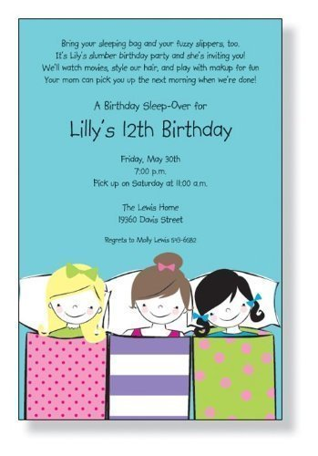 amazon com sleepover party invitations health personal care